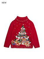 Vintage Kids' Embellished Christmas Tree Sweater