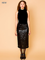 Vintage Sequined Mid-Length Skirt