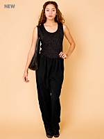 Vintage Sparkly Sleeveless Jumpsuit