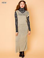 Vintage Open Knit Maxi Dress