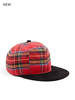 California Select Originals Plaid Cotton & Suede Cap