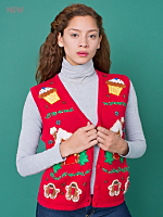 Vintage Gingerbread & Cupcakes Christmas Sweater Vest