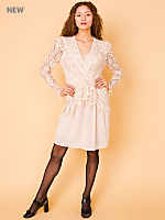 Vintage Lace Wrap Mini Dress