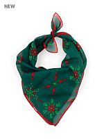 Vintage Red & Green Christmas Scarf