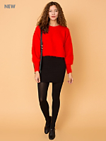 California Select Originals Angora Cropped Sweater