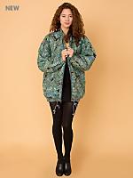 Vintage Oversized Paisley Silk Bomber Jacket