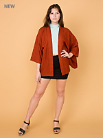 Vintage Plaid Haori Kimono Jacket