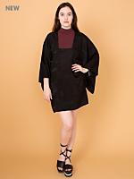 Vintage Square Neck Silk Haori Kimono Jacket