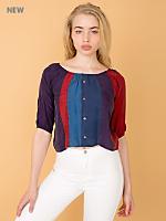 California Select Originals Silk Peasant Blouse