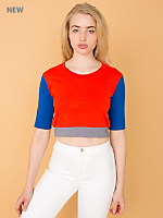 California Select Originals Color Block Half Sleeve Top