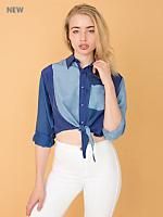 California Select Original Silk Cropped Tie Top