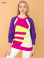 Vintage Bright Graphic Knit Sweater