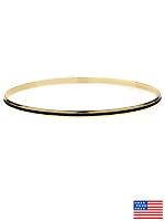 Black Bangle Bracelet