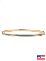 Enamel Bangle Bracelet
