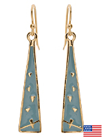 Baby Blue Triangle Drop Earrings