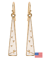 White Triangle Drop Earrings