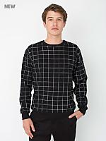 Printed Flex Fleece Crewneck Pullover Drop Shoulder Sweatshirt