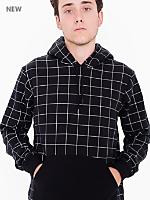 Printed Flex Fleece Drop Shoulder Pull Over Hooded Sweatshirt