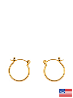 14Kt Gold Plated Earring Pair - Thick Smooth Hoop 126-012