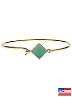 Hinged Wire Bracelet with Mint Clasp