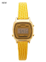 Lizard Yellow Leather Limited Edition Wristwatch LA670WG-9D