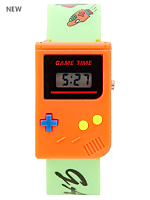 Orange and Green Luxury Game Wristwatch