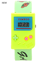Yellow and Green Luxury Game Wristwatch