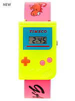 Yellow and Pink Luxury Game Wristwatch
