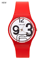 Red Numbers Luxury Smash Wristwatch