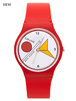 Red Shapes Luxury Smash Wristwatch