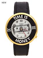 Luxury Time Is Money Wristwatch