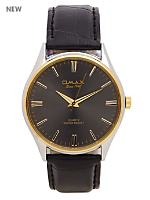 Omax Mens Leather Wristwatch