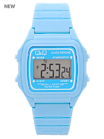 Q&Q Men's Digital Wristwatch - Baby Blue