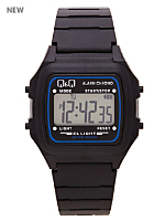 Q&Q Men's Digital Wristwatch - Black and Blue
