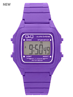 Q&Q Men's Digital Wristwatch - Purple
