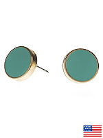 Mint Large Round Post Earrings