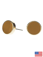 Butterscotch Medium Round Post Earrings