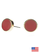 Coral Medium Round Post Earrings
