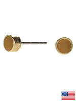 Butterscotch Small Round Post Earrings