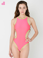 Contrast Cut Out Swim Suit