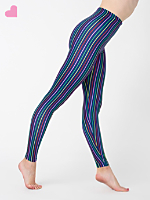 Striped Nylon Leggings