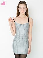 Printed Metallic Underwire Bustier Dress