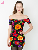 Floral Femme Off Shoulder Dress