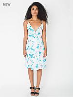Ink Print Wrap Dress