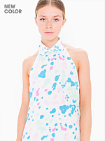 Printed Bib Dress