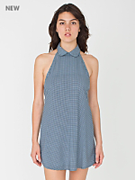 Gingham Print Bib Dress