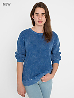 Unisex Acid Wash Drop-Shoulder Sweater