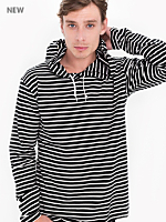 Breton Stripe Pullover Hoodie