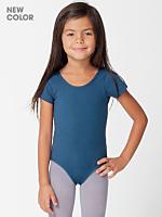 Kids Cotton Spandex Jersey Short Sleeve Leotard