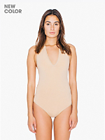 Cotton Spandex Jersey Halter Leotard